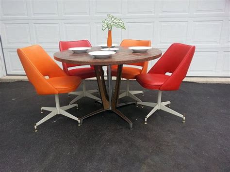 mid century dinette set retro dining table  chairs