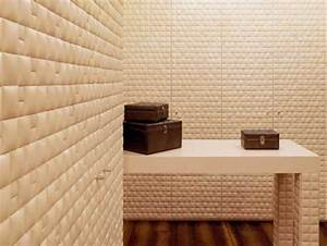 Leather Wall Tiles and Decorative Paneling Adding Chic