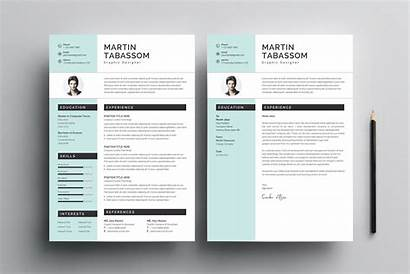 Templates Cv Modern Graphic Resumes Cart Graphics