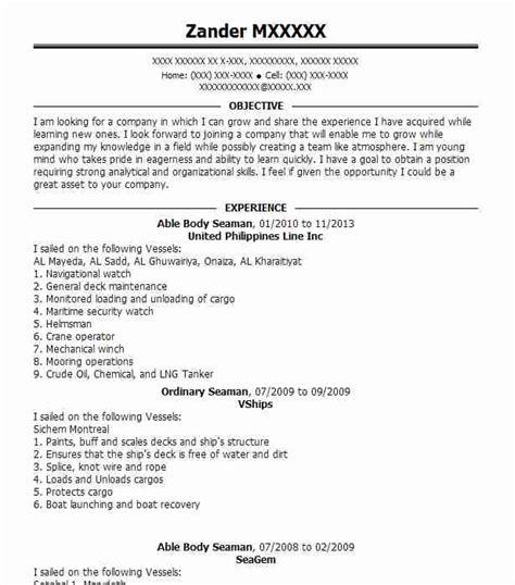 curriculum vita cv format  seaman  resume examples