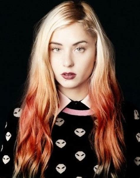 hair trend red ombre hairstyles pretty designs
