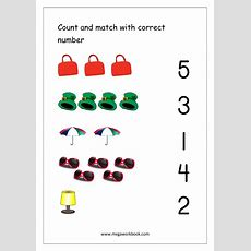 Free Printable Number Matching Worksheets For Kindergarten And Preschool  Count And Match (110