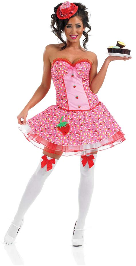 Ladies Cup Cake Girl Costume for Valentines Fancy Dress Up Outfits | eBay