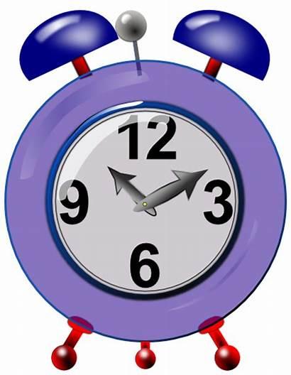 Clock Alarm Clipart Clip Clocks Purple Bells