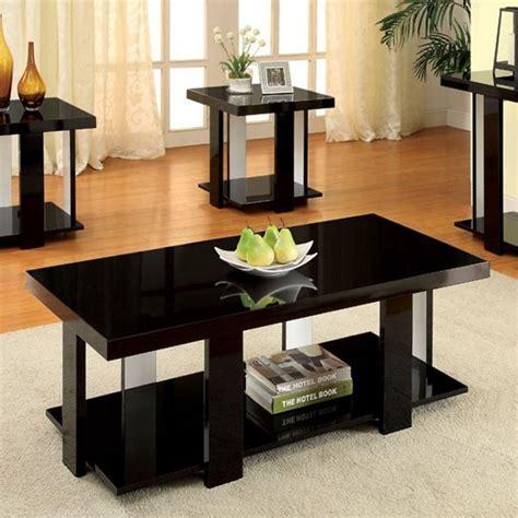 black solid wood coffee table lakoti i contemporary black white solid wood veneer coffee