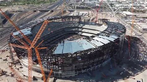 Las Vegas Stadium a little more than halfway done