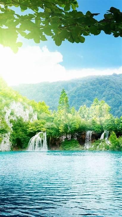 Iphone Nature Wallpapers Plus Waterfalls Sky Lake