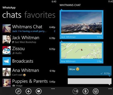 تحديث لتطبيق whatsapp على ويندوز فون التقنية بلا حدود