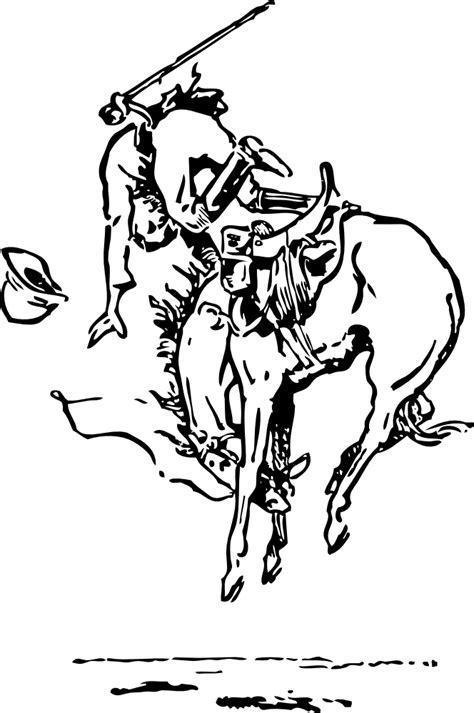 OnlineLabels Clip Art - Bucking Horse