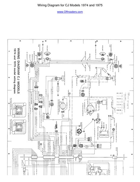 1974 Cj5 Wiring Diagram by 6 Best Images Of Jeep Cj7 Wiring Harness Diagram 1979