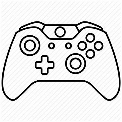 Xbox Controller Drawing Console Controllers Games Icon
