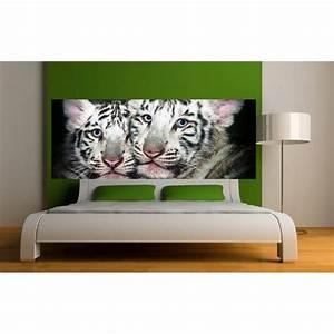 Papier Peint Sticker : papier peint t te de lit b b tigre art d co stickers ~ Premium-room.com Idées de Décoration