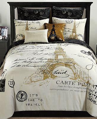paris reversible  pc gold comforter sets bed   bag