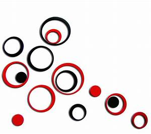 Set fad indoors decoration circles stereo removable d