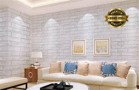 jual wallpaper dinding batu bata putih  lapak gosfaj