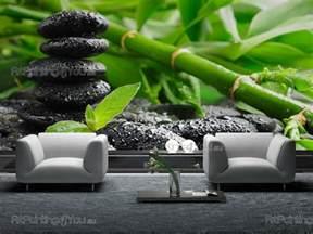zen stones bamboo wall murals posters mcz1037en