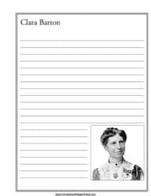 clara barton notebooking page homeschool helper 758 | clara barton
