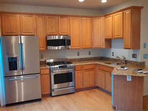 kitchen cabinets oak  black