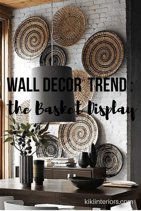 Check out our curtain wall decor selection for the very best in unique or custom, handmade pieces from our home & living shops. Wall Decor Trend - the Basket display | kikiinteriors.com