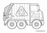 Truck Coloring Dump Printable Garbage Craft sketch template
