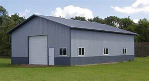 Garages pole buildings garage builder pole barn for Barn metal siding prices