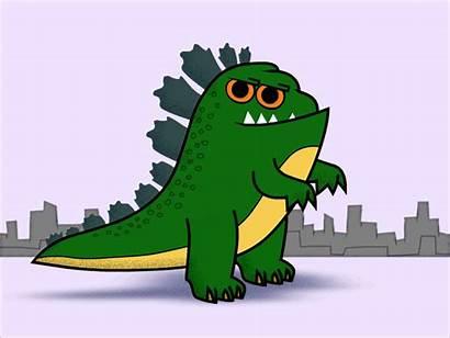 Godzilla Cartoon Animation Character Dribbble 2d