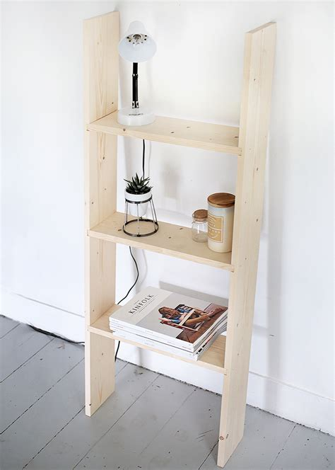 diy ladder shelf the merrythought