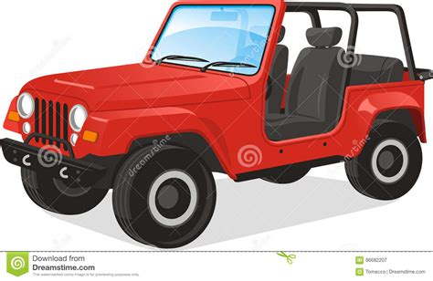 red jeep clipart jeep cartoons illustrations vector stock images 2390