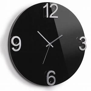 Horloge Murale Moderne : horloge design achat vente horloge murale moderne elapse wall noire umbra ~ Teatrodelosmanantiales.com Idées de Décoration