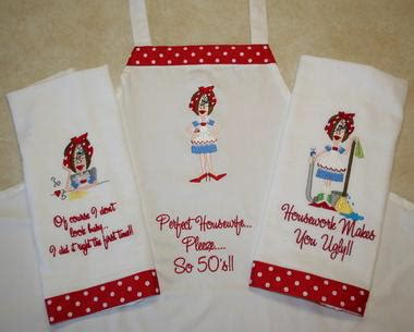 kitchen towel machine embroidery designs sassy housework 8670
