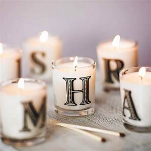 Alphabet scented candle by the country candle company for Letter candles