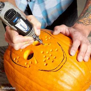 Pumpkin, Carving, With, Power, Tools