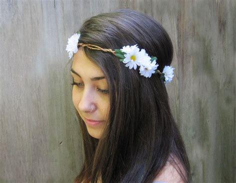 Daisy Headband Daisy Crown Daisy Flower Crown Hippie