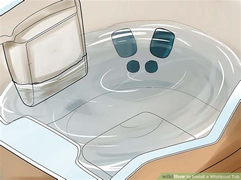 How To Use Bath Tub by How To Install A Whirlpool Tub With Pictures Wikihow