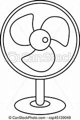 Fan Outline Electric Table Icon Vector Drawing Line Drawings Illustration Clip Clipart Artwork Web sketch template