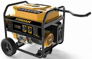 Firman 5700 Watt Portable Generator With Wheels  U2013 United Rv