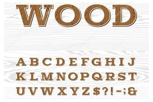 baixar fonte de madeira alfabeto cursivo