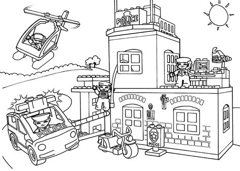 Colouring In Sheets Lego Man Coloring Police Car Police