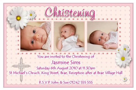 Free Template For Baptismal Invitation