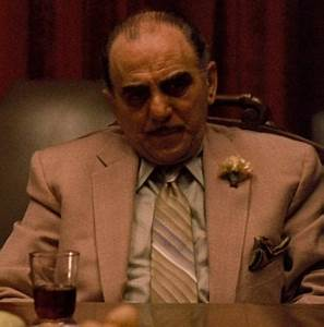 At the end of the Godfather, who is the man shot in a ...