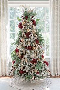 How, To, Decorate, A, Crimson, Red, And, Gold, Christmas, Tree