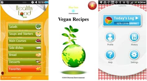 application cuisine android food apps for bada and android phones