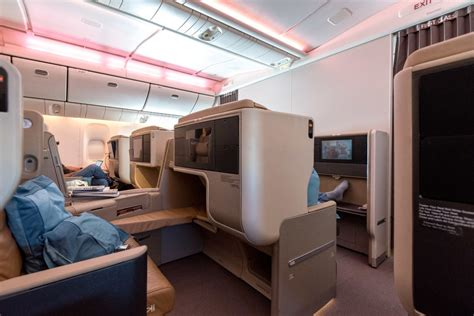 777 cabin layout trip report singapore airlines business class 777 300er