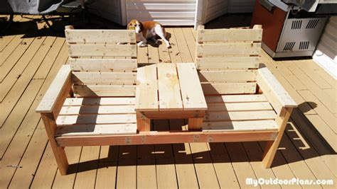 diy double chair bench table myoutdoorplans