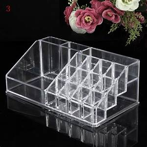 Acrylic Clear Container Make Up Case Cosmetic Storage ...