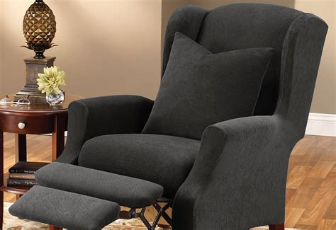 Slipcover For With Recliners by Stretch Pique Two Wing Recliner Slipcover Surefit