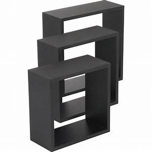 Etagere Cube Noir : etag re 3 cubes noir x cm mm leroy merlin ~ Teatrodelosmanantiales.com Idées de Décoration