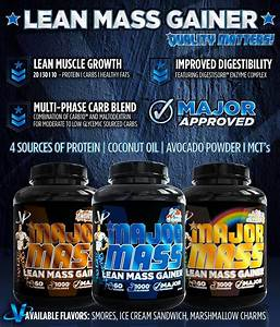 Vmi Sports Major Mass Lean Mass Gainer Marshmallow Charms 60 Scoops 4 Lbs  Protein Powder With