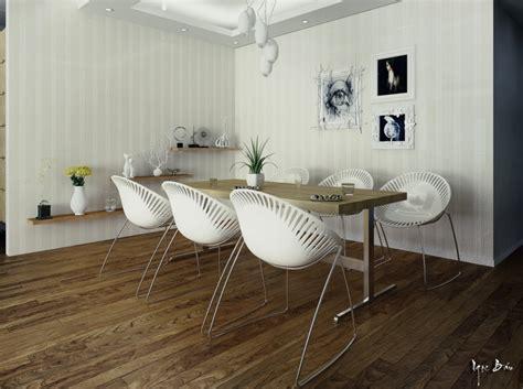 modern white dining chairs interior design ideas
