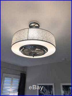 bladeless ceiling fan with light drum ceiling fan bladeless modern light kit entryway 7915